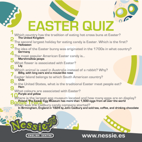 Easter Quiz Answers